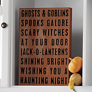 All Hallows Evening Sign