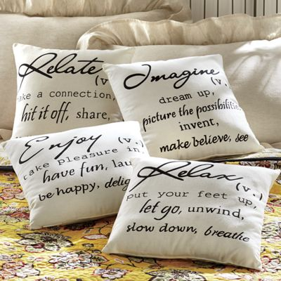 Relax And Imagine Pillows