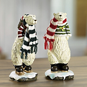 Set Of 2 Polar Bear Figurines