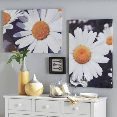 Set Of 2 Daisy Canvases