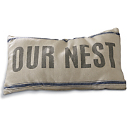 our nest toss pillow