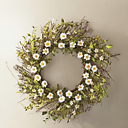 button daisy wreath