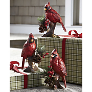 Set Of 3 Cardinal Figurines