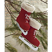 Set Of 2 Ice Skate Ornaments