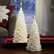 Set Of 2 Winter Pine Candles