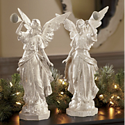 Set Of 2 Trumpeting Angels
