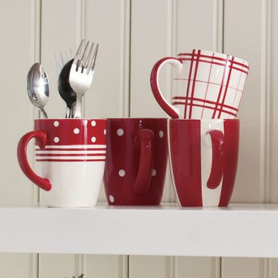 Set Of 4 Fun Tastic Mugs