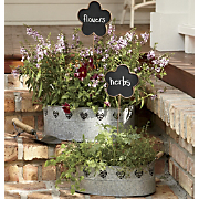 Set of 2 Planter Tubs with Stakes