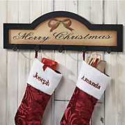 Christmas Stocking Plaque