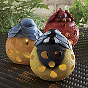 Set Of 3 Solar Birds