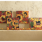 S 4 Sunflower Canvases