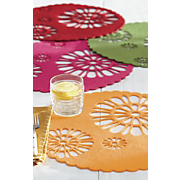 set of 4 flower place mats