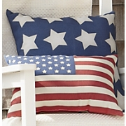 white stars pillow