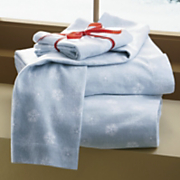 Snowflake Flannel Sheet Set