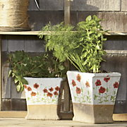 set of 2 poppy planters