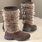 Womens Furry Boot