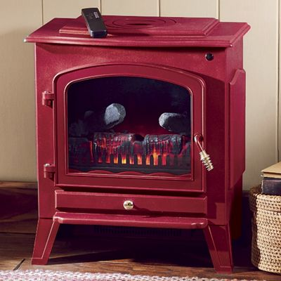 Green or Red Electric Fireplace