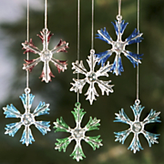 Set Of 6 Snowflake Ornaments