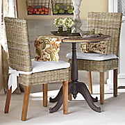 set of 2 woven parsons chairs