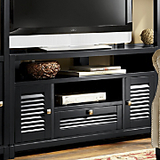 louvered media console
