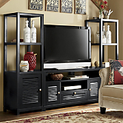 louvered media tower and console