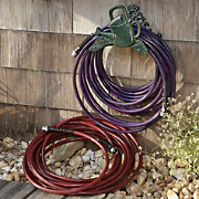 ultra light garden hose and holder
