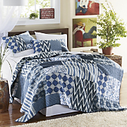 santorini oversized reversible quilt and sham