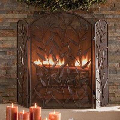 Trailing Leaves Fireplace Screens