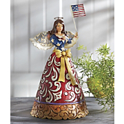 jim shore flag of freedom forever wave figurine