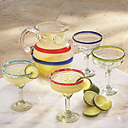baja pitcher and margarita glasses
