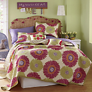 gerbera oversized reversible quilt sham and pillows