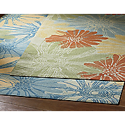 bright oversized floral anywhere rug