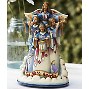 jim shore in praise of america musical figurine