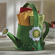 watering can gift towel set