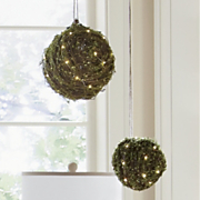 set of 2 led orbs