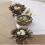 set of 3 birds nests