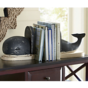 set of 2 whale bookends