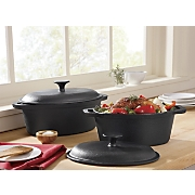 Set Of 2 Cast Iron Dutch Ovens