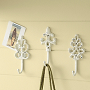 set of 3 coat hooks