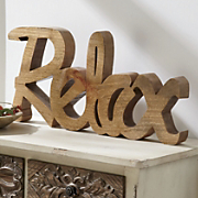 relax shelf sign