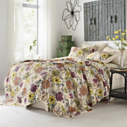 ginger printed quilt set