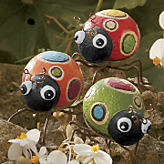set of 3 polka dot bugs 26