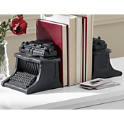 vintage typewriter bookend
