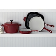 5 piece enameled cast iron cookware