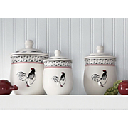 set of 3 cockerel waltz canisters