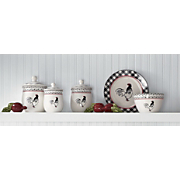 cockerel waltz canisters dinnerware and mixing bowls
