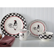 16 piece cockerel waltz dinnerware