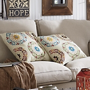 multi medallion toss pillow