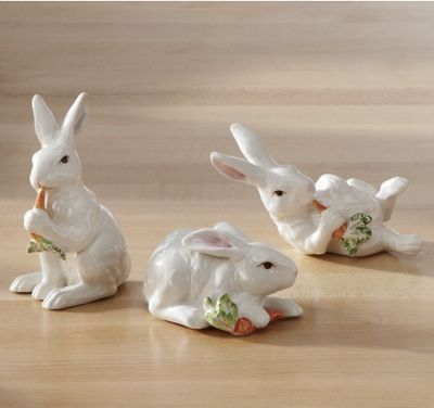 set of 3 spring bunnies