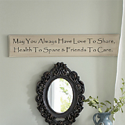 inspirational wall plaque